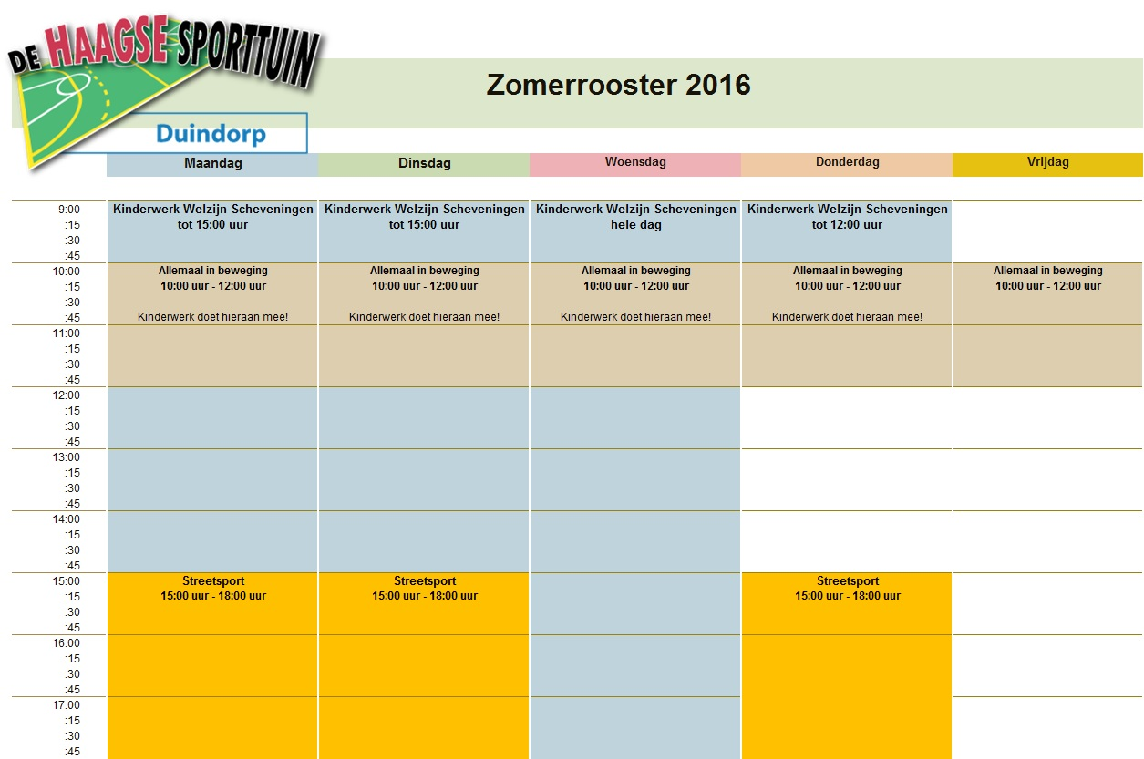 Zomerrooster 2016